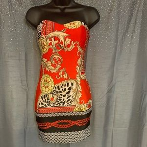 Red Dress with fashion design